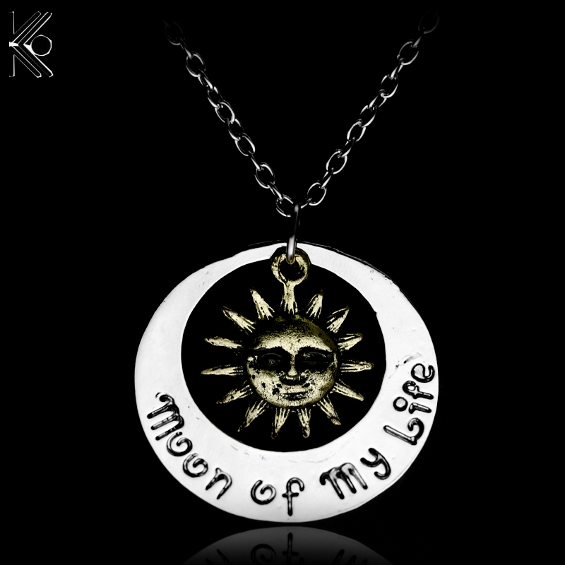 free shipping Game of Thrones Moon of My Life My Sun and Stars Khal Khaleesi Pendant Necklace fashion jewelry chain link
