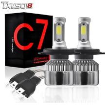 купить TXVSO8 2Pcs h4 led car headlight bulbs Kit With COB Chips 6000K 55W led Fog Headlamp Bulb 12V Auto Front light bulbs for cars дешево