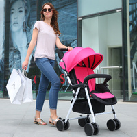 3~36 months Baby stroller ultra light portable folding shock four wheel push umbrella car bb baby child small baby car