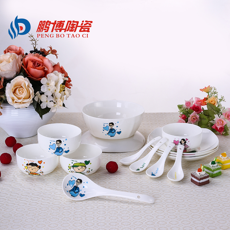 Wedding Gift Dinner Set : Family Dinnerware Sets Bone China Porcelain Tableware Wedding Gift ...