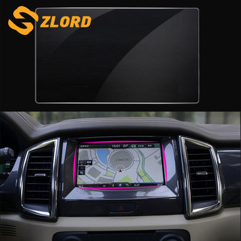 Zlord GPS Touch Screen Protector Car Screen Curtain Protective Film Sticker Fit for Ford New Everest 2015 2016 2017 Accessories image