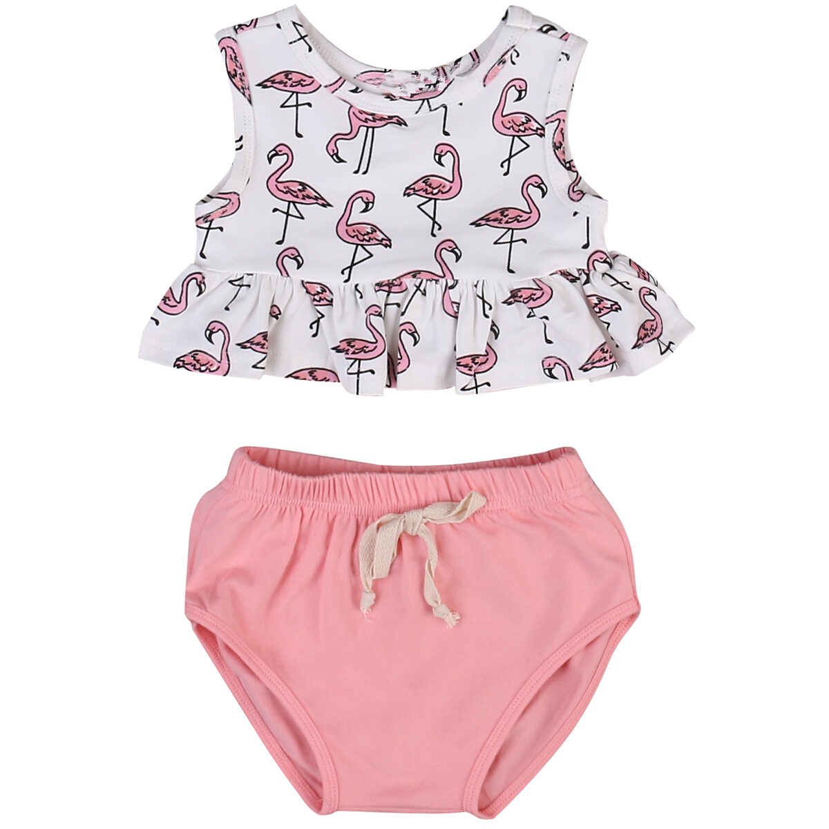 New Arrivals Newborn Toddler Baby Girls Clothes Vest Tops T-shirts+Shorts 2Pcs Sets Kids Girls Casual Cotton Summer Outfits