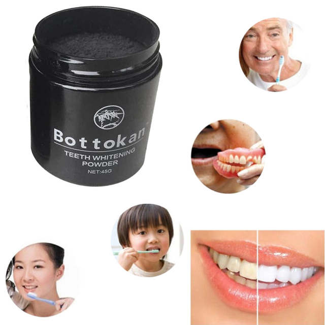 Venda Quente 45g De Clareamento Dos Dentes Em Po Organico De Coco De