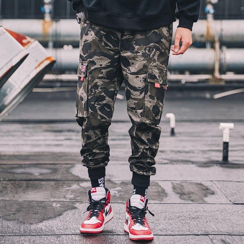Camuflaje De Estilo bolsillo La Dormir Camouflage Multi Hombres 2019 Los Safari Mono Primavera Pantalones En Harun Ev81w6qxw