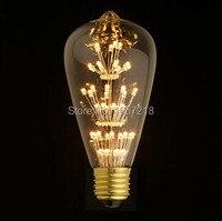 Antique Retro Vintage Edison Light Bulb E27 Incandescent Light Bulbs ST64 Squirrel Cage Filament Bulb Edison