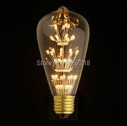 Антикварная ретро Винтаж Эдисон лампочка E27 накаливания Лампочки ST64 короткозамкнутый лампа накаливания EDISON ЛАМПЫ Домашний Декор
