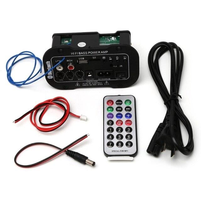 25W Auto Bluetooth Subwoofer Hi Fi Scheda di Amplificazione Dei Bassi Audio TF USB 220V/12V/24V