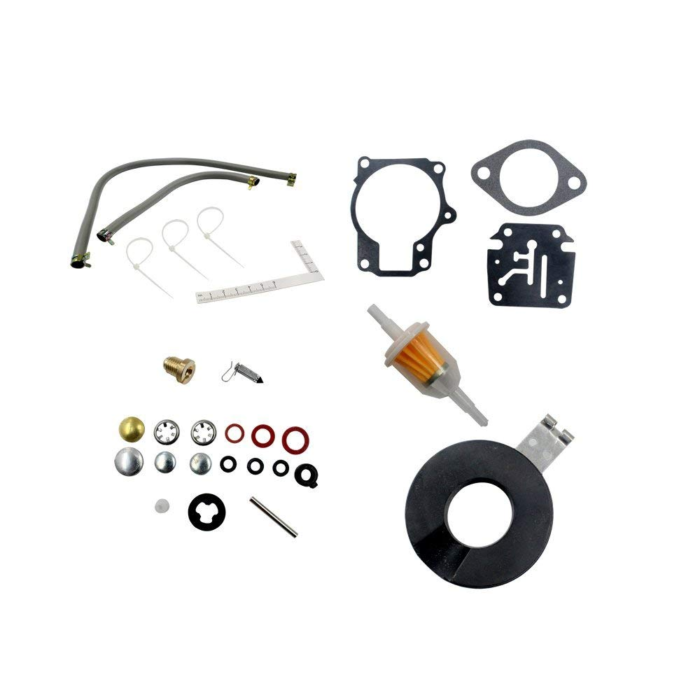 Carburetor Carb Rebuild Kit for Evinrude Johnson 398729 396701 392061 Mallory 9-37107 Sierra 18-7222 18 <font><b>40</b></font> <font><b>HP</b></font> <font><b>Outboard</b></font> <font><b>Motors</b></font> image