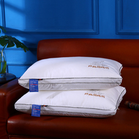 Thickened Feather Pillow PP Cotton Pillow Core Bedding Set 48*74cm Solid Color Pillow Inner Bedroom Home Textile Home & Living