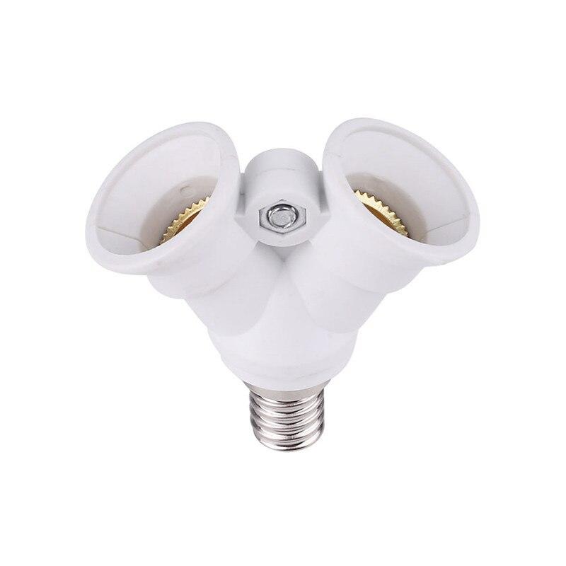 NEW Fireproof Material Lamp Holder E14 To 2 E14 LED Y Shape Light Lamp Bulb Splitter Adapter Converter For LED Corn Bulb Light