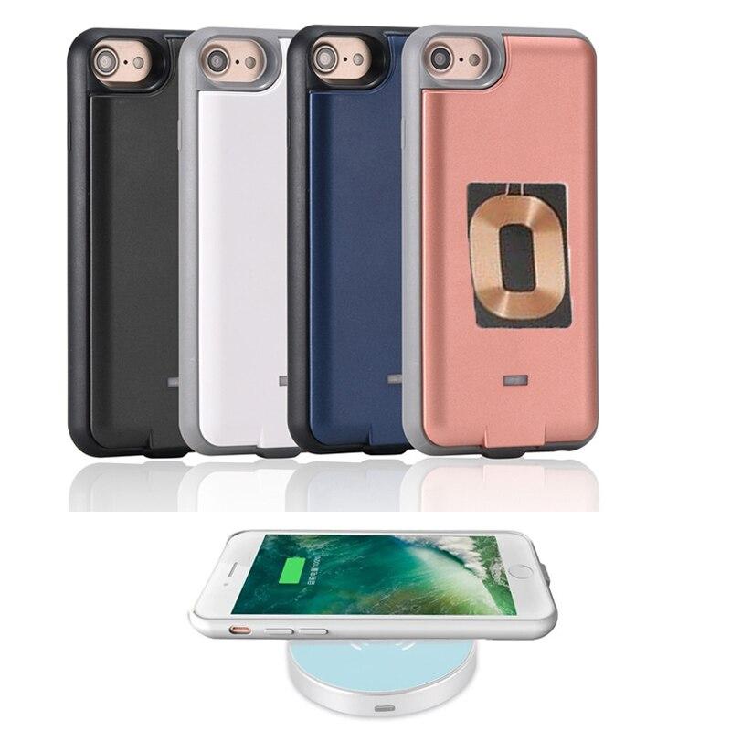 imágenes para QI Receptor Cargador Inalámbrico Banco de Alimentación Externa Cargador de Batería Del Teléfono Casos de la Cubierta Para El Iphone 6 6 s Casos