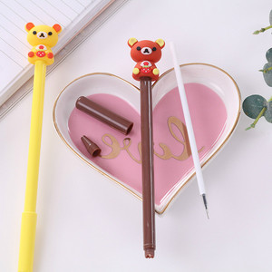 Image 2 - 40 Pcs Creative Cartoon Bear Gel Pen Student Office Stationery Wholesale Kawaii School Stationery