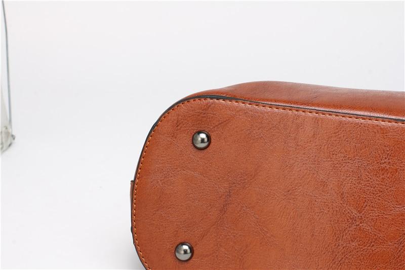 Women Tuff Leather Tote Handbag 17
