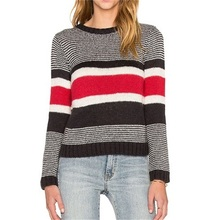 2016 New Autumn and Winter Women Colorful Striped Clothes Casual Long Sleeve O-Neck Fashion Loose Female Pullover Sweater