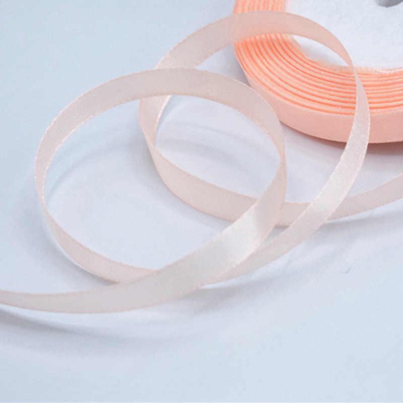 סרט סאטן 25 מטרים 6mm אריזה חומר DIY Bow קרפט דקור מסיבת חתונת קישוטי אספקת סקראפ גלישת מתנה