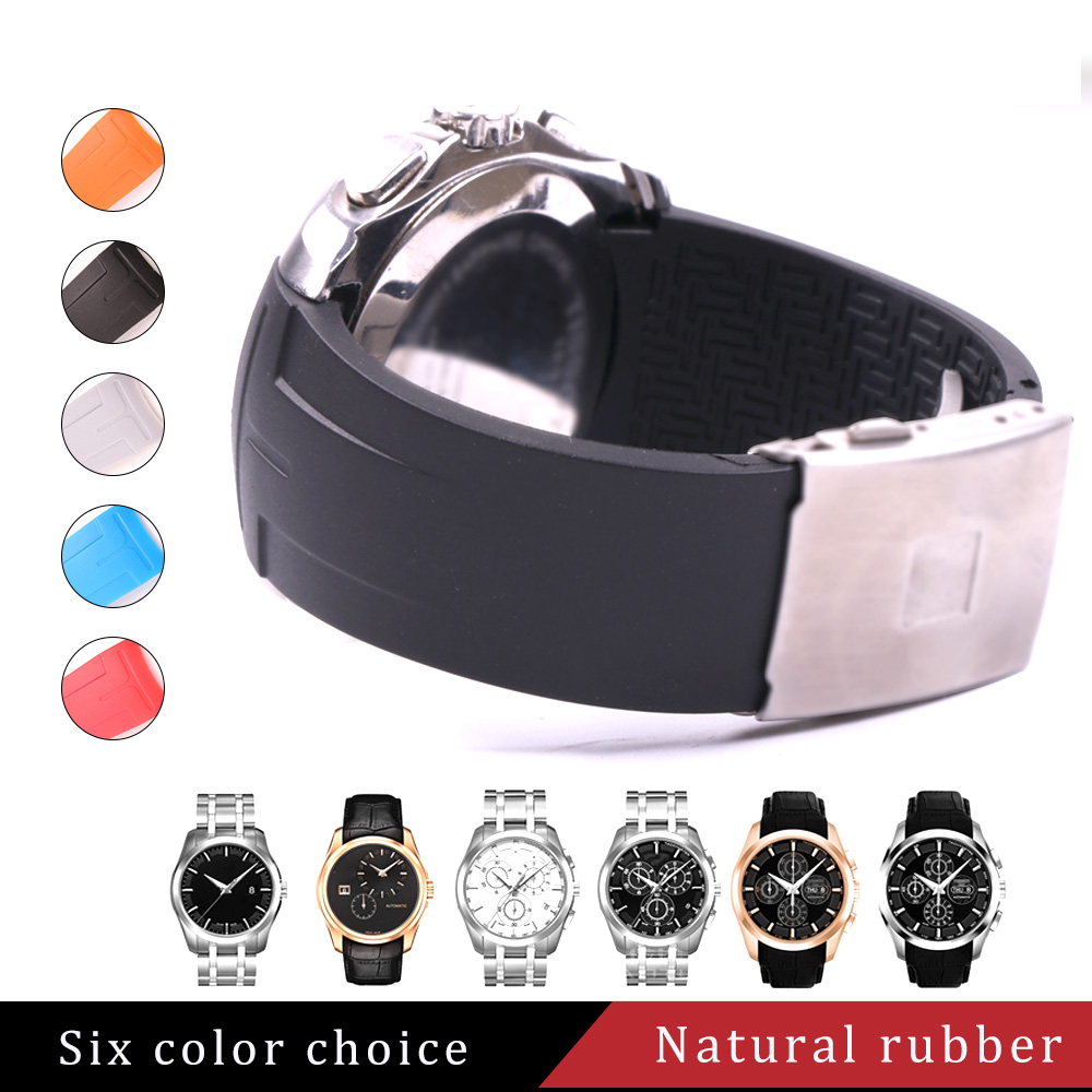Sports Silicone Rubber Watch Band 22mm 23mm 24mm for 1853 COUTURIER T035207 T035 Watchband Strap Wrist Belt Bracelet WaterproofSports Silicone Rubber Watch Band 22mm 23mm 24mm for 1853 COUTURIER T035207 T035 Watchband Strap Wrist Belt Bracelet Waterproof