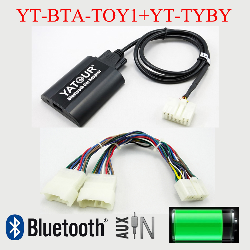 Yatour Bluetooth MP3 hands free kit for Toyota Lexus 5+7 radios with Navigation System yatour car adapter aux mp3 sd usb music cd changer 6 6pin connector for toyota corolla fj crusier fortuner hiace radios