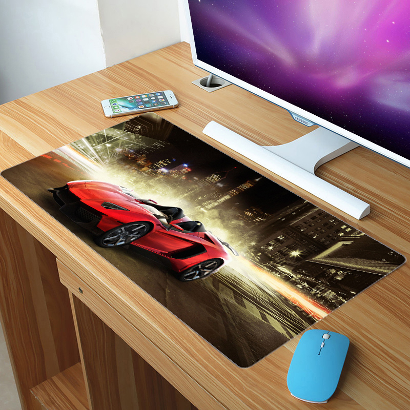 FFFAS 70x30cm Big XXL Size Mouse Pad Sports Car Roadster Bus Cycle Racing Super Mousepad Home Office Keyboard Game Gaming XL Mat image