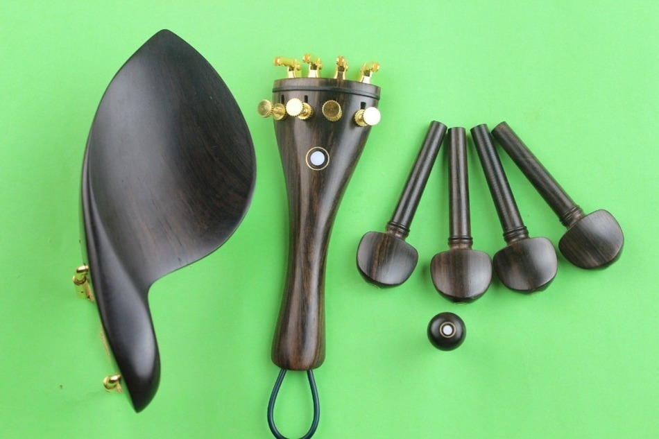 1 Set Top Undyed Ebony Luthier Violin Parts 4/4 Full Size Violin  Accessories
