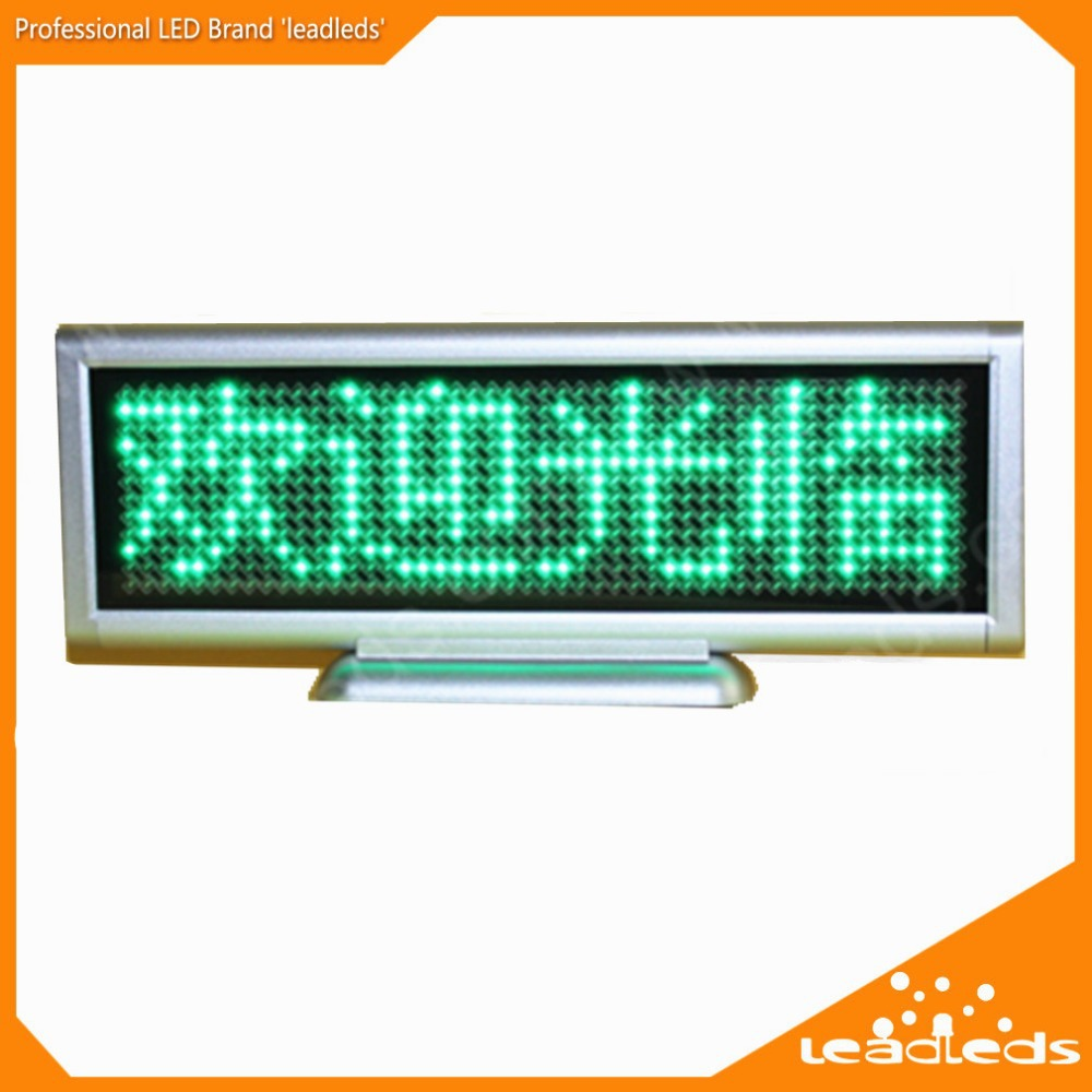 Green LED desktop screen desktop screen scroll on-board electronic display signs in both English and Chinese special offer