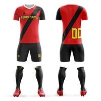 Men's Youth soccer jerseys 2019 football training suits running sets custom football uniforms adult sports kits