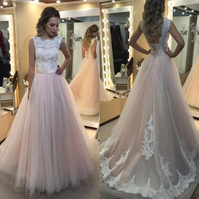 d29230a352cb1 Blush Pink Wedding Dresses 2019 Robe De Mariage Sexy Backless Elegant Lace  Wedding Dress Cheap China Bridal Gowns Robe De Mariee