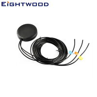 Eightwood Car GPS+GSM+WIFI Combined Antenna HRS GT5+RP SMA Connector for Audi BNW