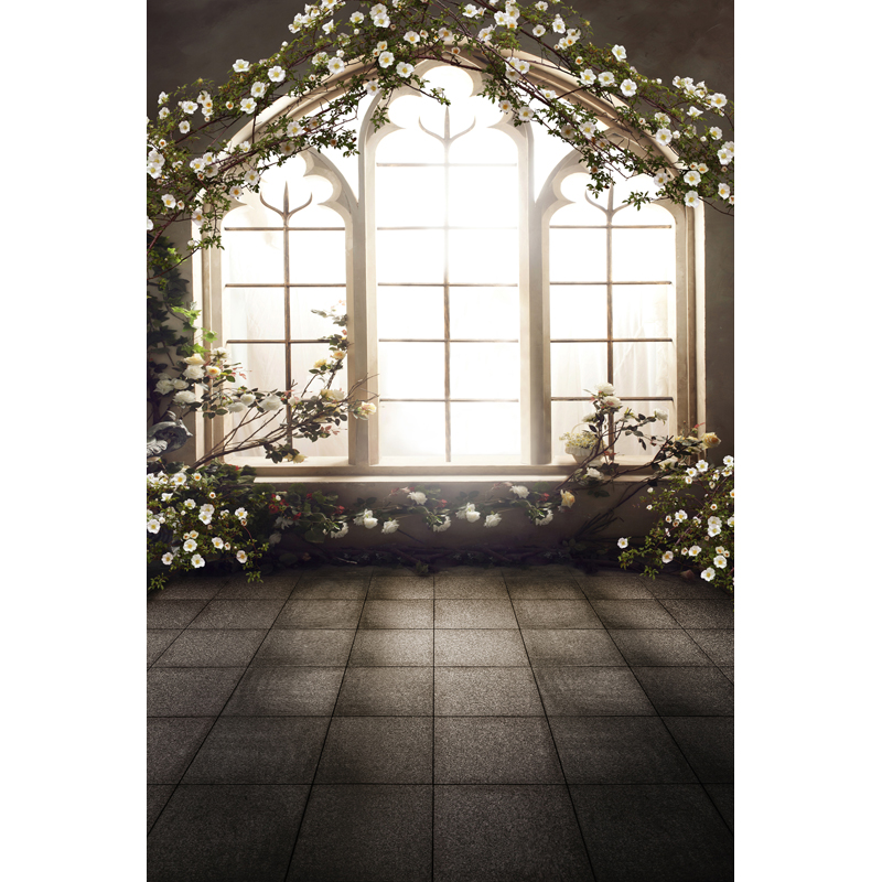French Windows Indoor  Wedding Children Baby Photo Studio Decor Backgrounds Computer Painted Vinyl Photography Backdrop CM-6560