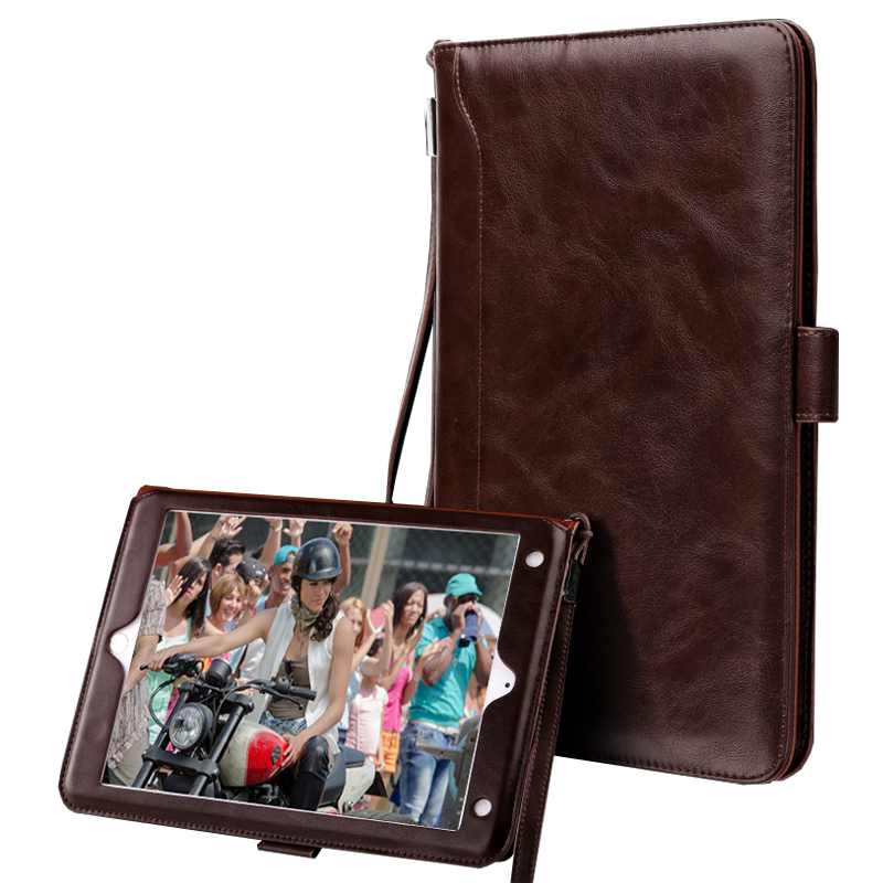 Case for iPad mini 4 Business Style Luxury PU Leather Card Wallet Protective Smart Tablet Case for funda iPad mini 4+Film Gift