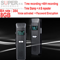 x7 audio recorder 384 bit rate recorder 8G time stamp+voice activated+password+lcd display,digital voice recorder audio recorder