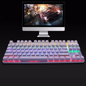 ZERO Mechanical Keyboard Blue/Red/Black Switch 104 / 87 Backlit Anti-ghosting Metal Wired Gaming keyboard Russian stickers