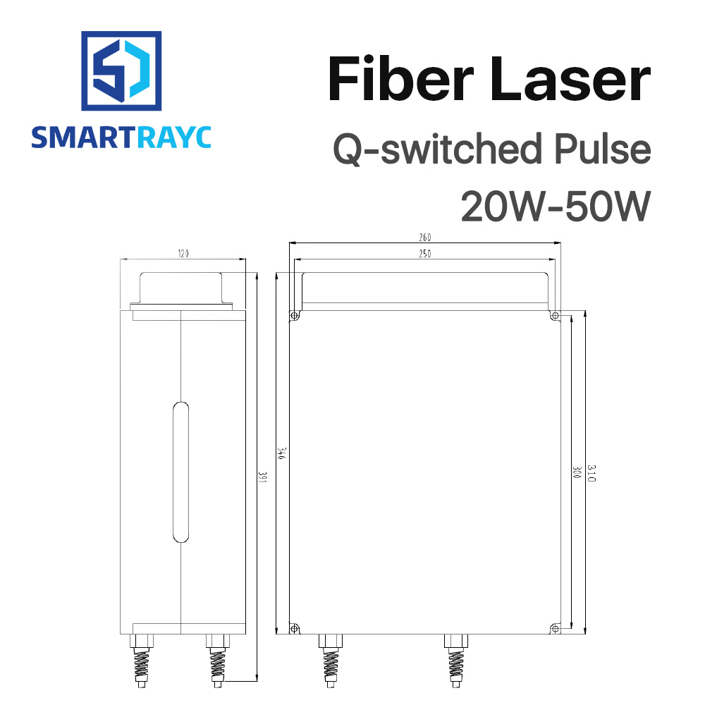hight resolution of smartrayc raycus 20w 50w q switched pulse fiber laser series gqm 1064nm high quality laser marking machine diy part in woodworking machinery parts from
