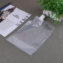 2L Transparent  collapsible water bag Outdoor camping hiking bucket tasteless safety seal Folding Drinking Water Storage Bags