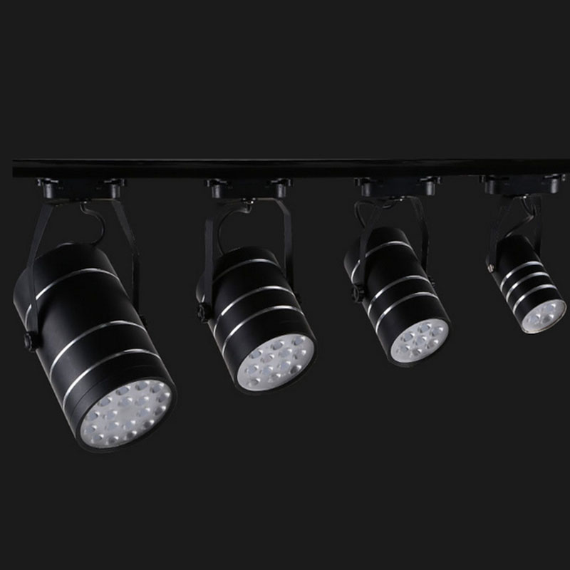 commercial art gallery led track lighting rail 18w led spotlight