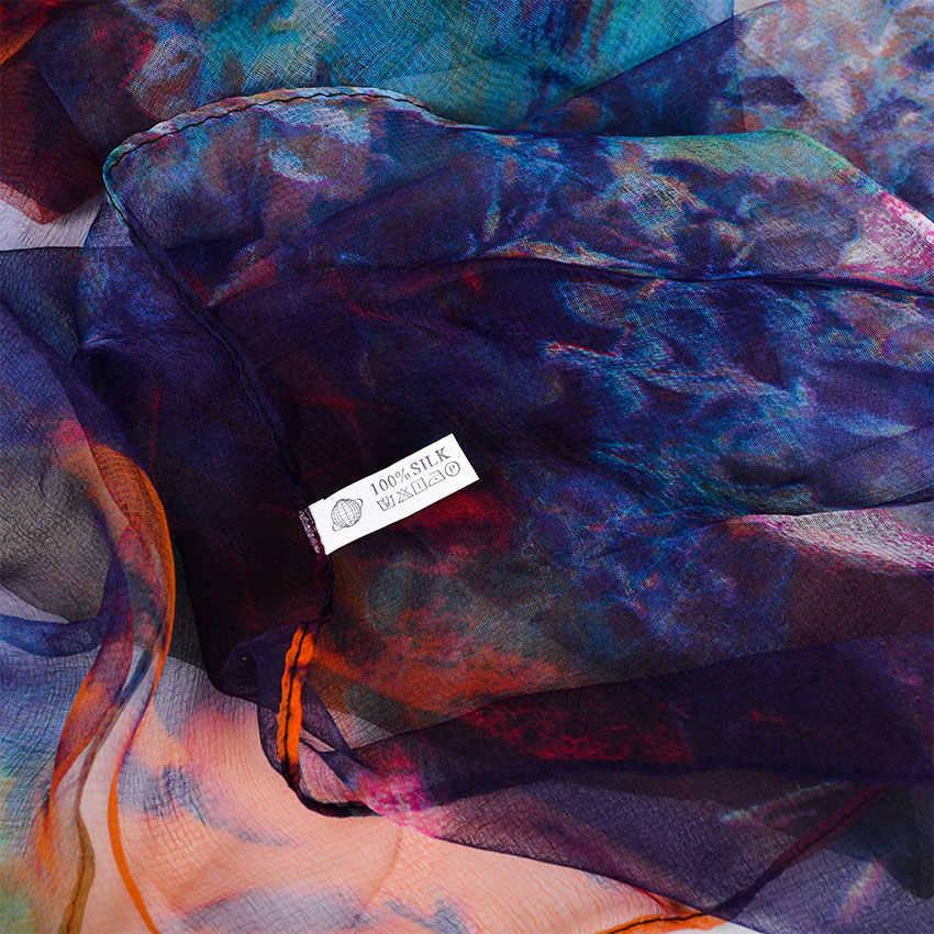 [BYSIFA] Delle Signore di Seta Dello Scialle Della Sciarpa Nuovi Lunghe Sciarpe di Modo di Marca Sciarpe Elegante Viola Blu Sciarpa di Collo Scialle Spiaggia cover-ups