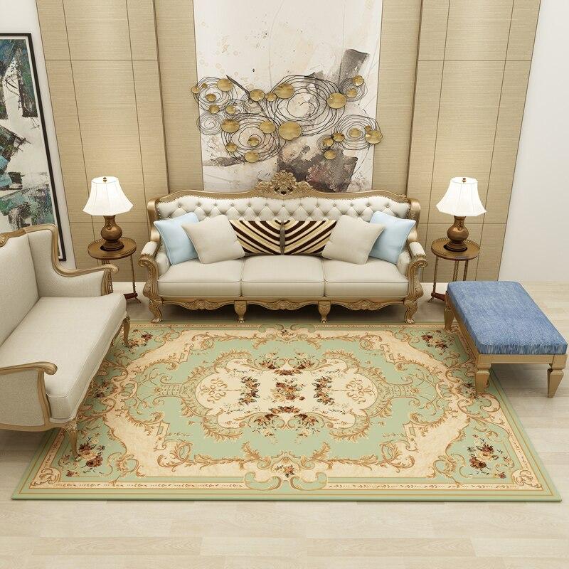 Nouveau beau tapis de Style européen exquis motif délicat couverture de chevet grands tapis salon chambre hôtel tapis de sol