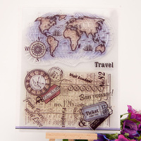 Scrapbook 14 18cm Globle ACRYLIC Growing Clear STAMPS Carimbo Timbri Stempel SCRAPBOOKING Stamp