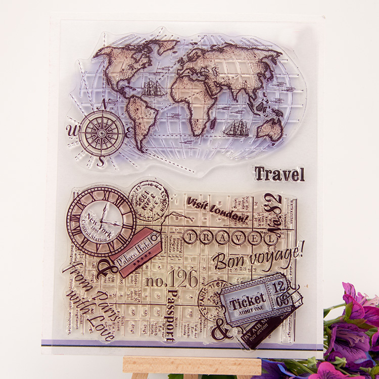 scrapbook 14*18cm globle ACRYLIC growing clear STAMPS carimbo timbri stempel SCRAPBOOKING stamp scrapbook 14 18cm love design acrylic clear stamps carimbo timbri stempel scrapbooking stamp