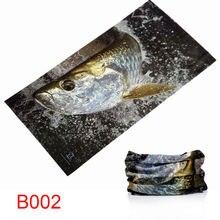 carp tarpon swordfish tuna fishing pattern fishing bandanas scarf Anti UV breathable Fishing hat mask