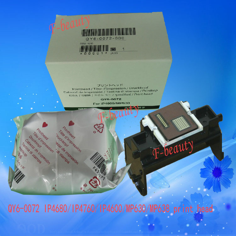 Print head asli, Qy6-0072 Printhead kompatibel untuk Canon IP4600 IP4680 IP4700 IP4760 MP630 MP638 MP640 MP640 Printer kepala
