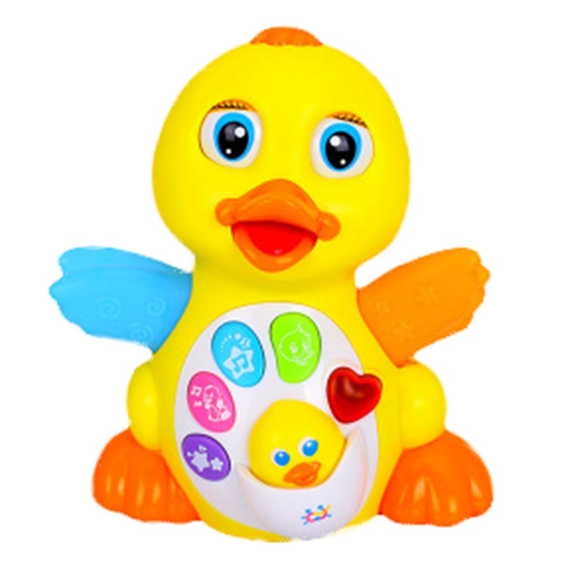 The Latest Electric Walking Will Swing Dancing Singing Yellow Duck Fancy Nappy Small Toys Unisex Electronic Plastic Sounding
