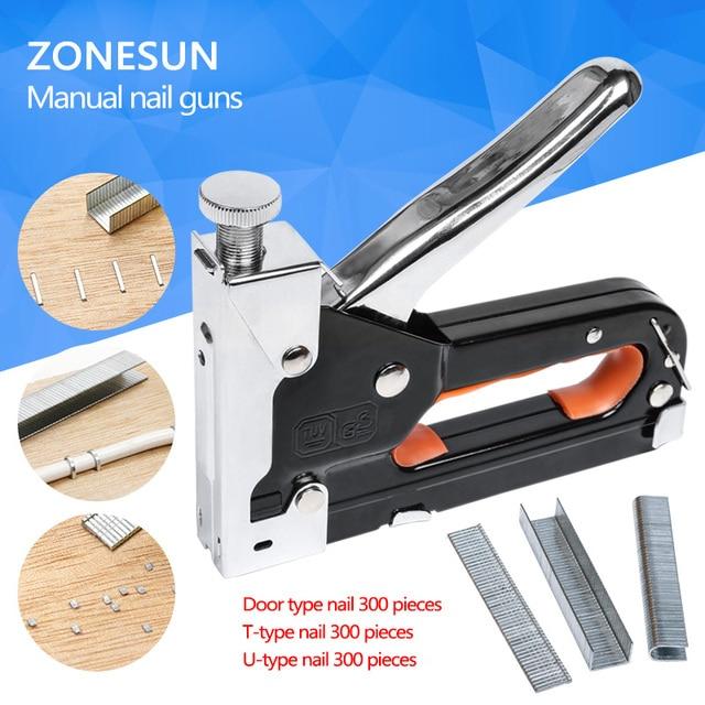 Multi tool Nail Staple Gun Furniture Stapler For Wood Door ...