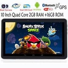 Original de 10 pulgadas 2G 3G Phone Call Quad core Android Tablets pc de 2 GB 16 GB tarjeta sim Dual Smart Tab MiniPad tablet pc 7 8 9 10.1