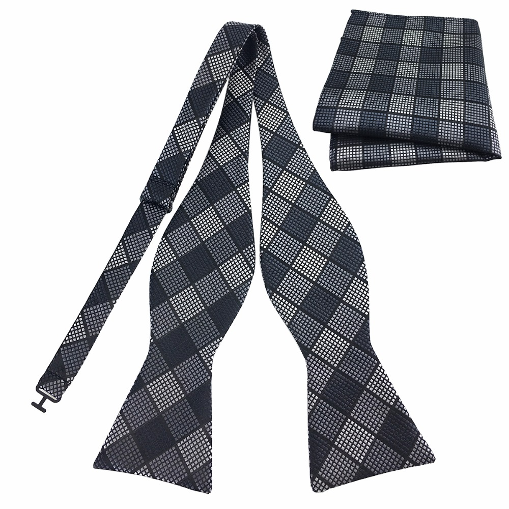 PenSee Mens Self Bow Ties Unique Pattern Woven Jacquard Bowties for Christmas Gift Idea