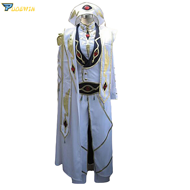 New Arrivel Code Geass Lelouch of the Rebellion Emperor  Cosplay Costume full set 6/lot with hat