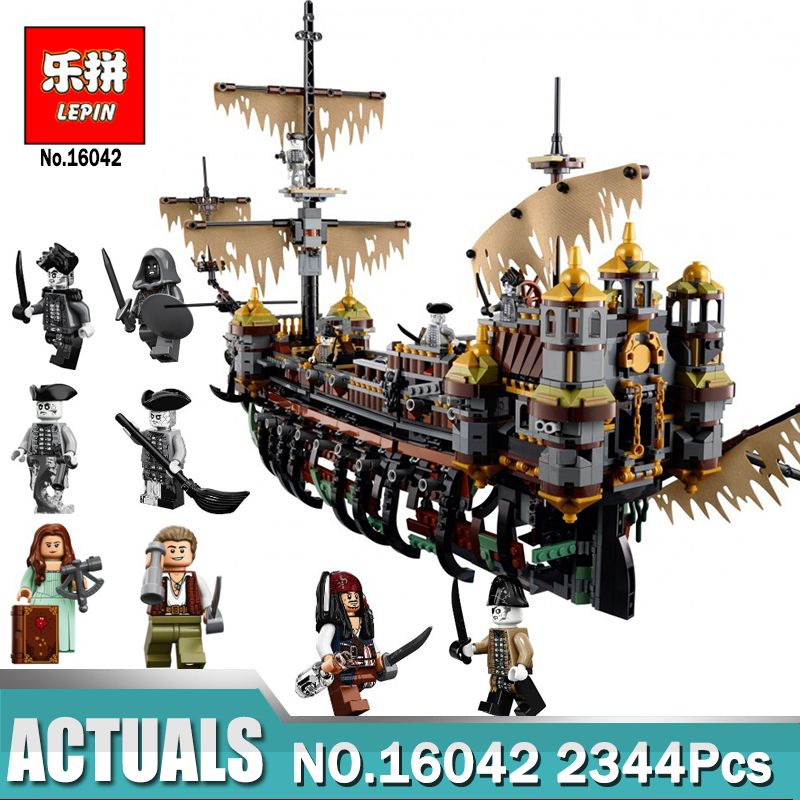 New Lepin 16016 22001 Pirate Ship Building Blocks Lepin 16042 The Silent Mary Set Compatible LegoING 71042 Model for Children new lepin 16009 1151pcs queen anne s revenge pirates of the caribbean building blocks set compatible legoed with 4195 children
