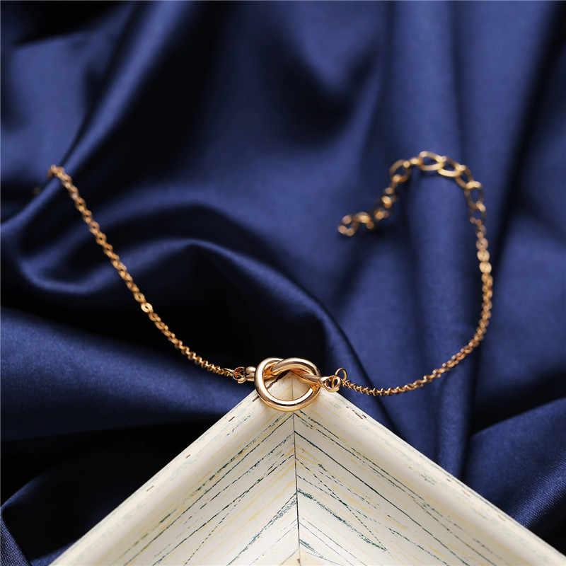 17KM 2019 krawat bransoletka dla kobiet moda regulowane Twist złote bransoletki bransoletki Pulseras Mujer druhna biżuteria prezenty