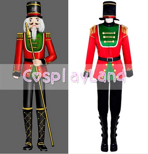 Le Costume casse-noisette fait sur commande Prince rouge uniforme tenue Cosplay adulte Halloween fête Cosplay Costumes