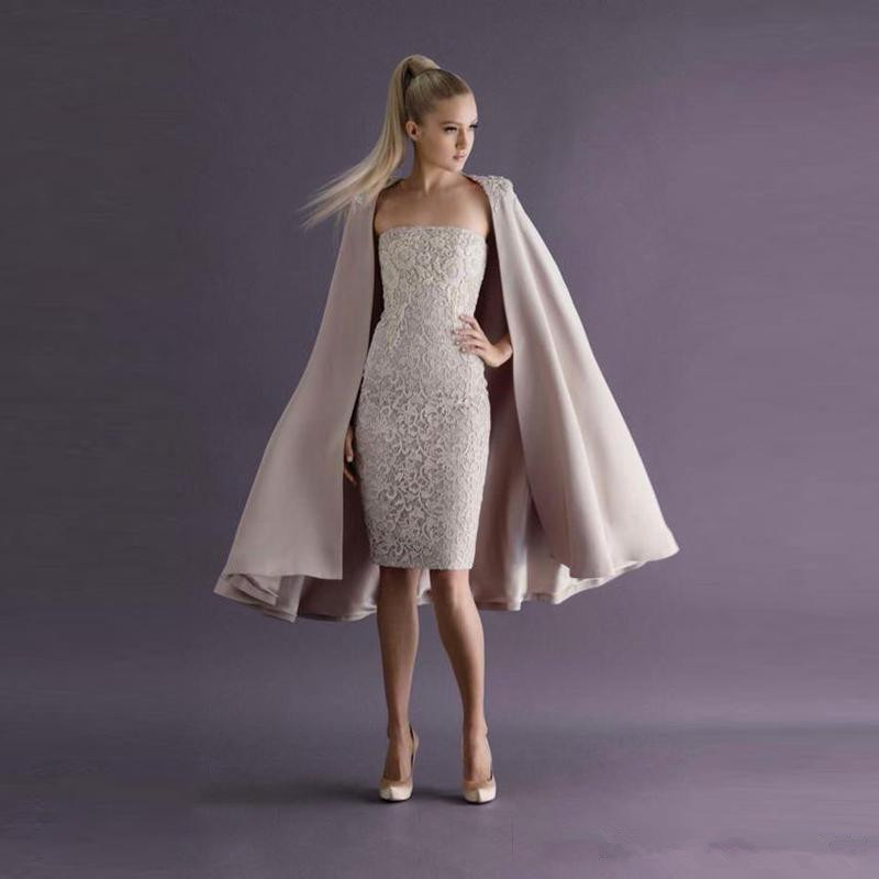 Best Offer Elegant 2019 Cocktail Dresses Sheath Strapless