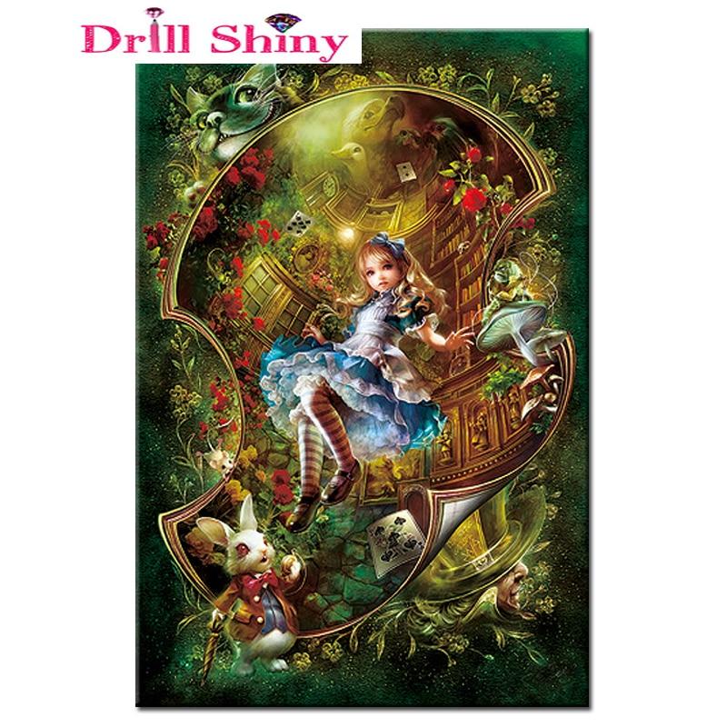 Square Diamond Painting Cross Stitch Kit Magic Girl Rhinestone Diamond Embroidery Embroidery Crafts Home Decorative Painting